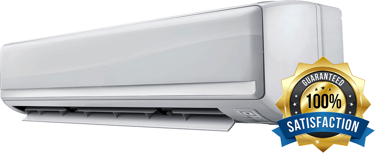 air conditioning unit with badge
