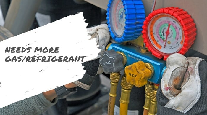 aircon low refrigerant not cooling